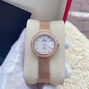 Đồng hồ Omega nữ mặt tròn