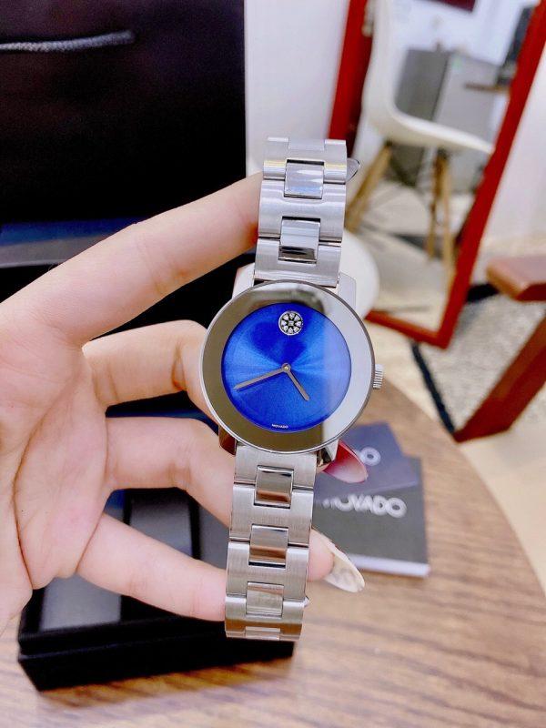 Đồng hồ Movado nữ dây kim loại