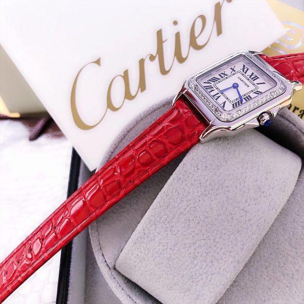 Đồng hồ Cartier nữ màu đỏ