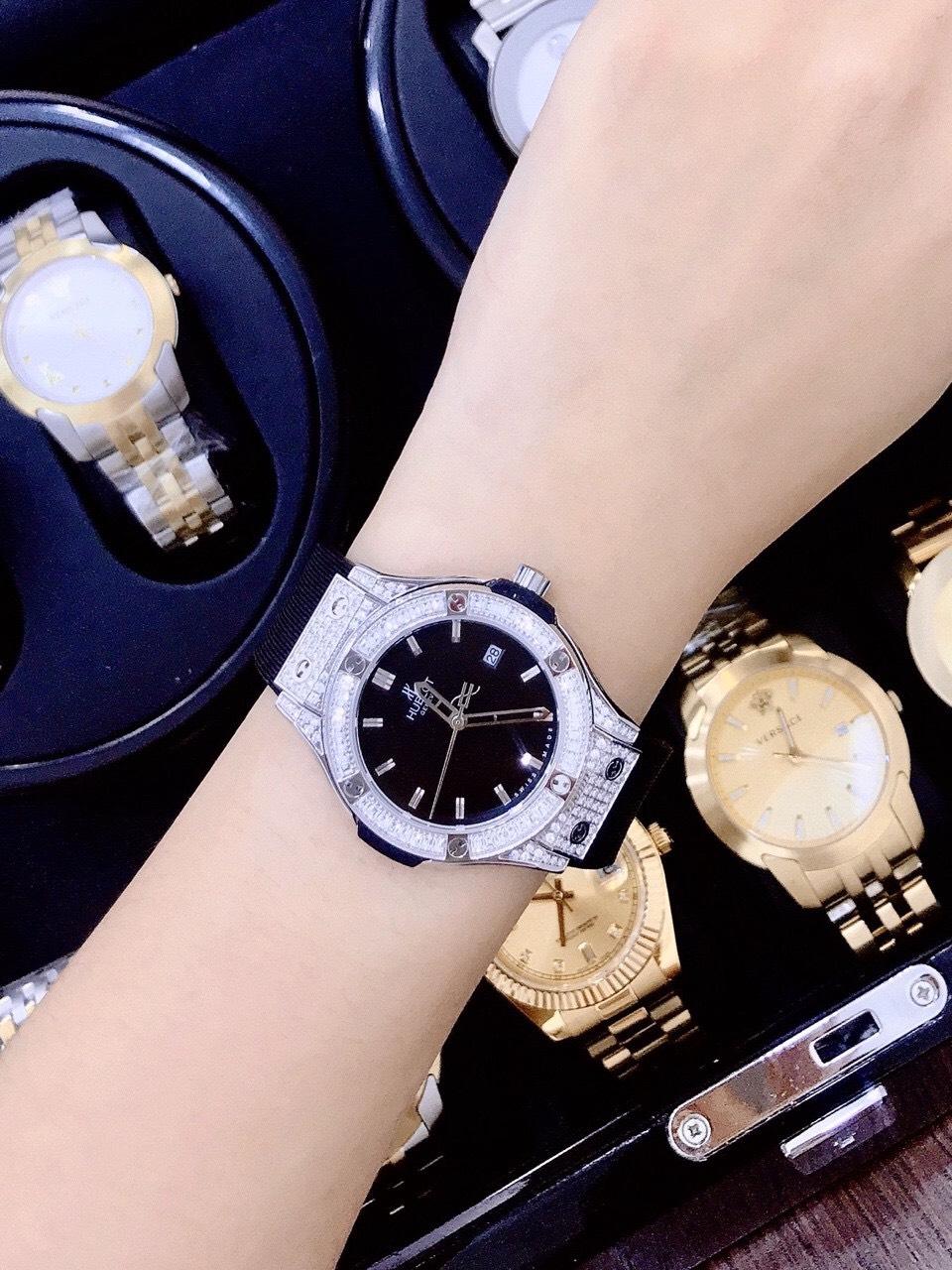 Đồng hồ Hublot nữ dây cao su Hublot Bigbang Dimond 3 màu dây – DWatch –  DWatch