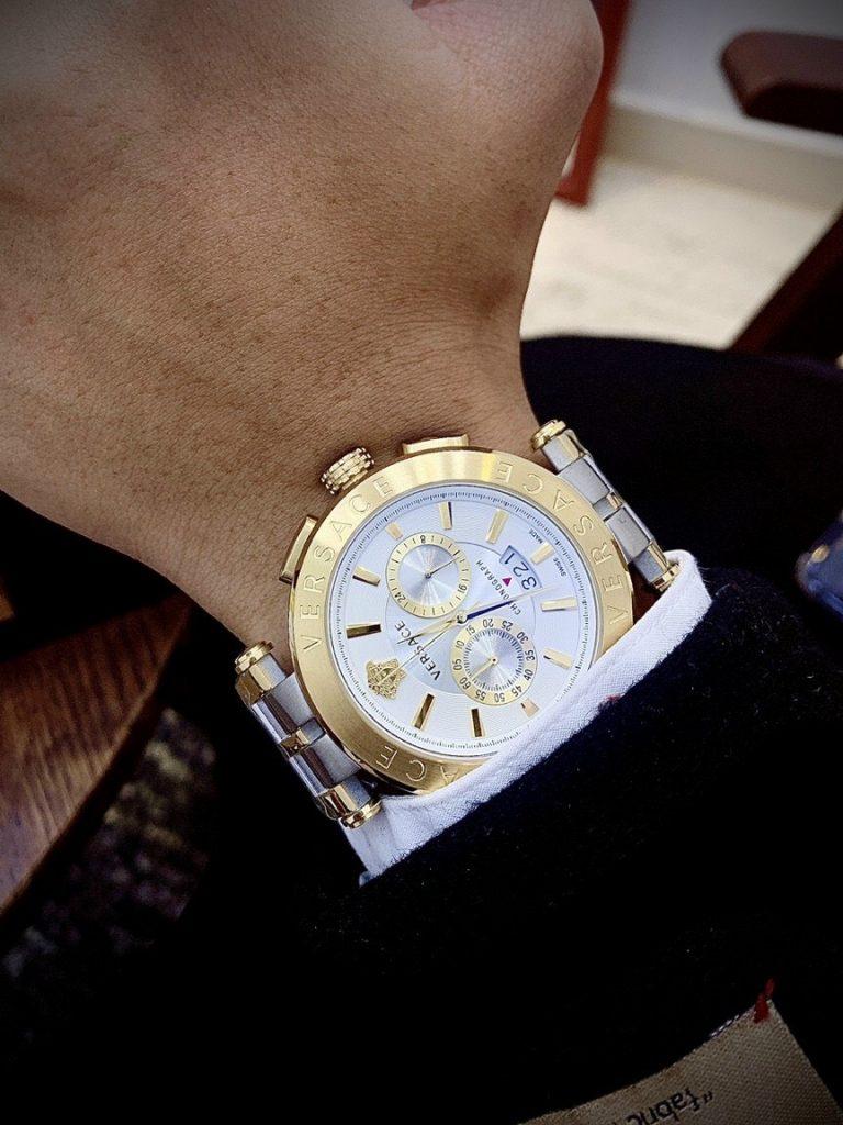 Đồng hồ Versace nam mặt tròn