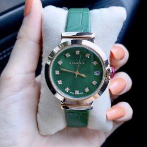 Đồng hồ bvlgari màu xanh
