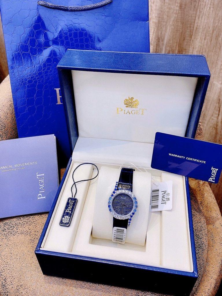 Đồng hồ Piaget nữ dây da màu xanh
