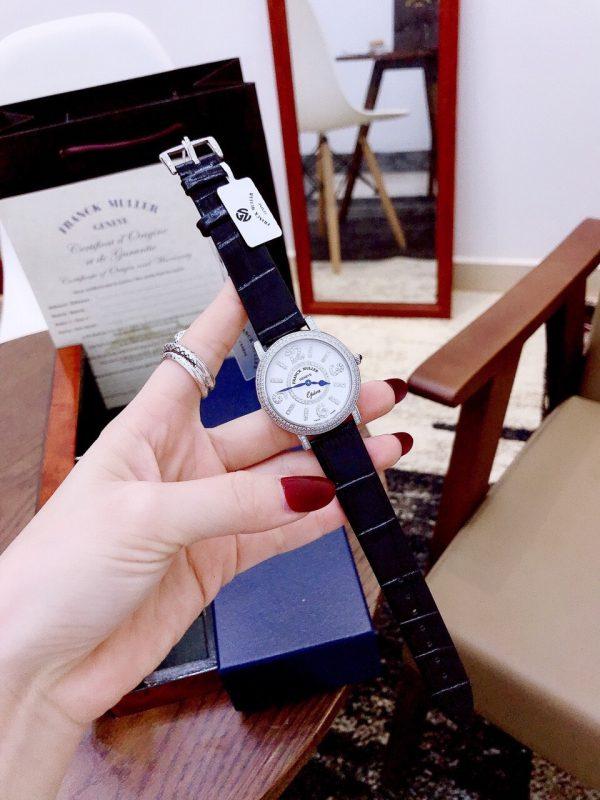 Đồng hồ Franck Muller nữ dây da mặt tròn