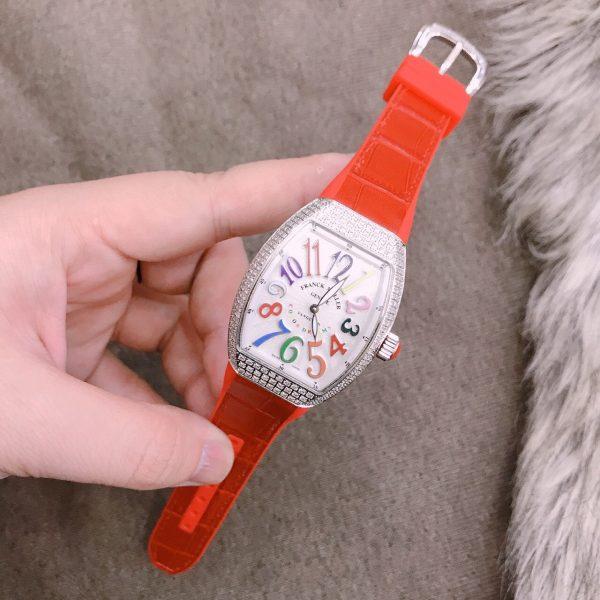 Đồng hồ Franck Muller nữ màu đỏ