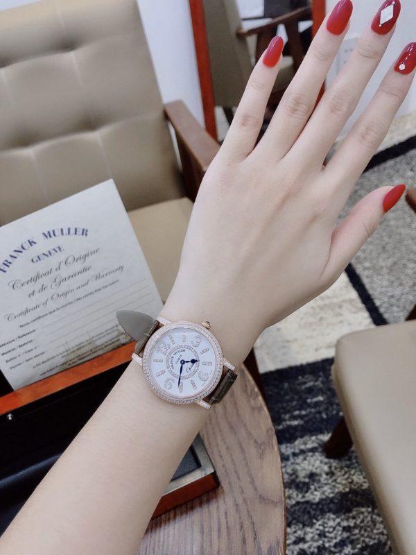 Đồng hồ Franck Muller nữ mặt tròn