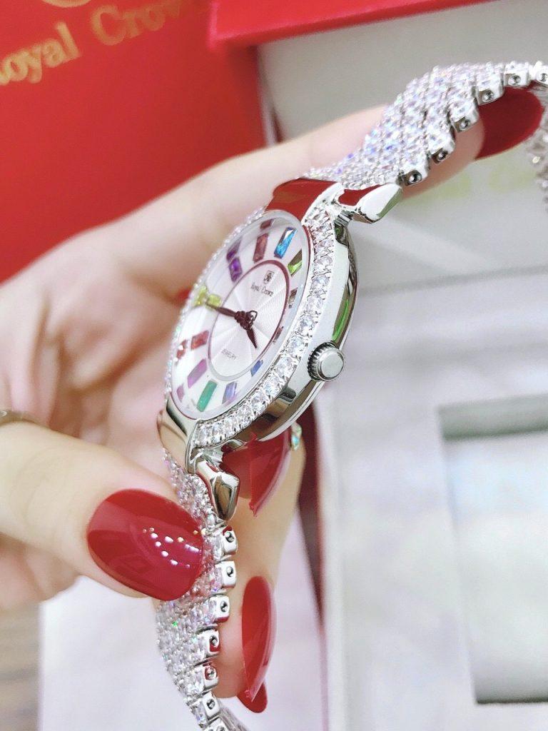 Đồng hồ Royal Crown nữ dây kim loại