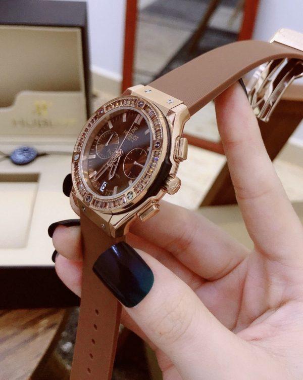 Đồng hồ hublot nữ màu nâu