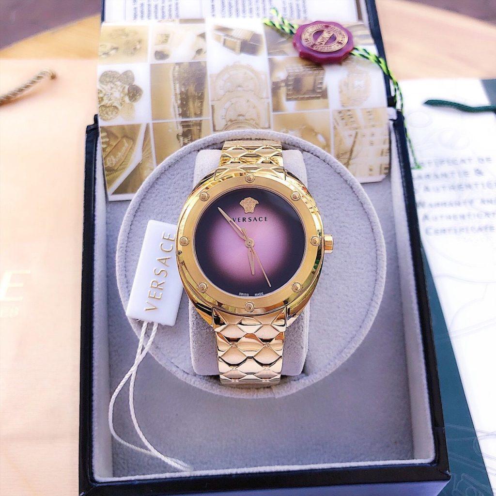 Đồng hồ nữ Versace dây kim loại