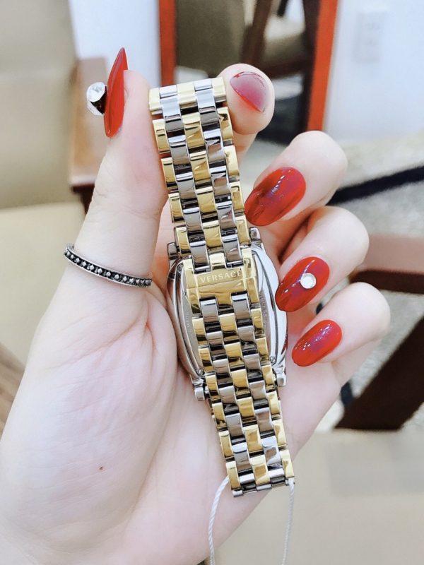 Đồng hồ nữ dây kim loại mặt chữ nhật