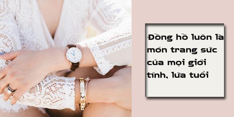top 7 mẫu đồng hồ nữ dây da đẹp