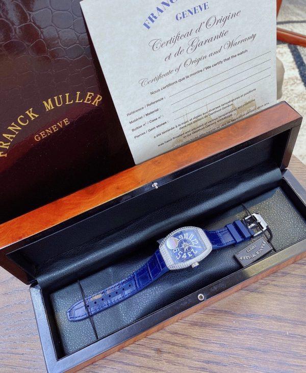 Đồng hồ Franck Muller màu xanh