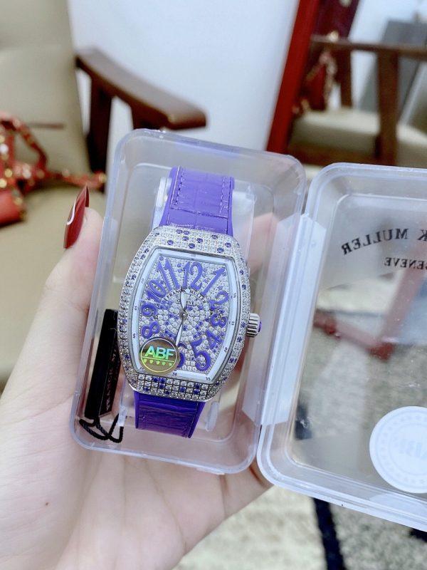 Đồng hồ Franck Muller nữ màu tím