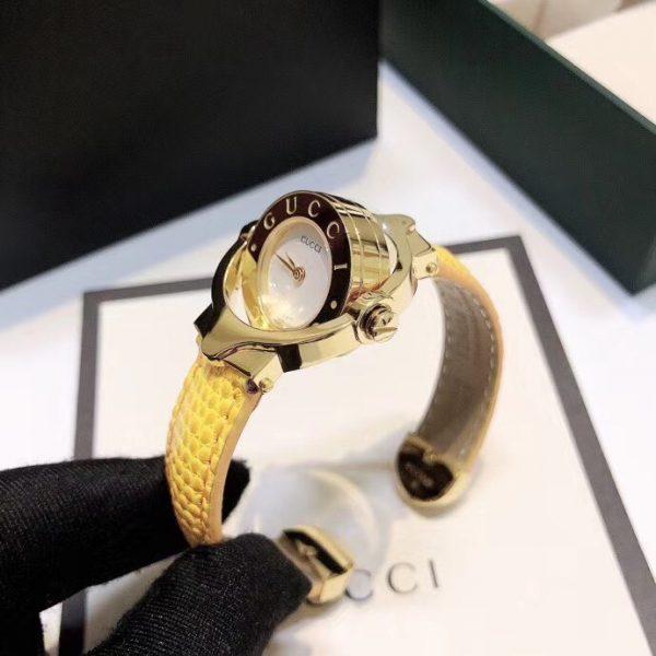 Đồng hồ Gucci nữ dây da màu vàng