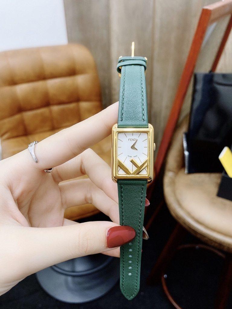 Đồng hồ dây da nữ mặt chữ nhật