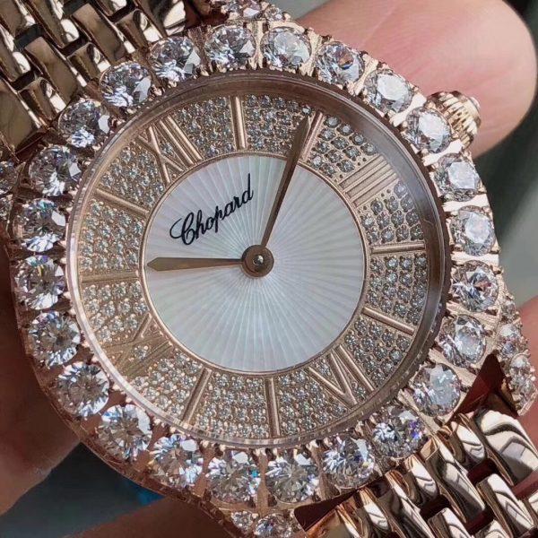 Đồng hồ nữ đẹp mặt tròn đính đá