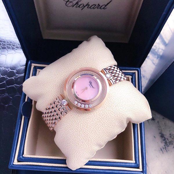 Đồng hồ nữ cao cấp mặt tròn