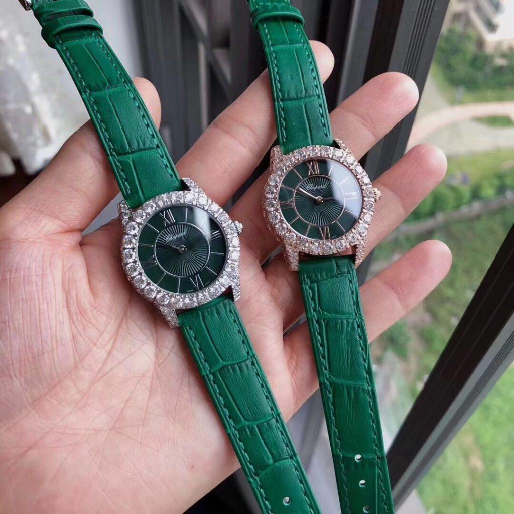 Đồng hồ nữ dây da Chopard đính đá