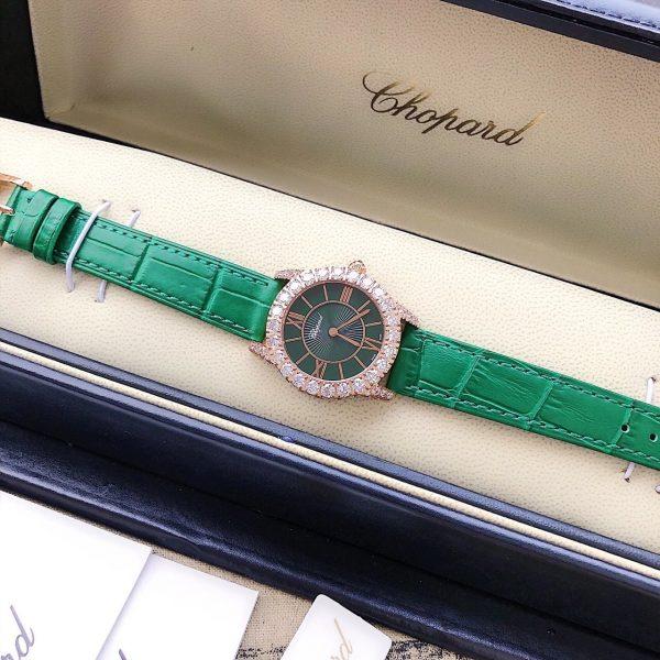 Đồng hồ nữ dây da Chopard đẹp