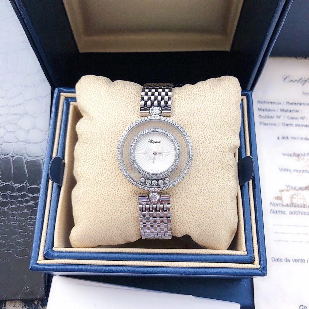 Đồng hồ nữ dây kim loại mặt tròn