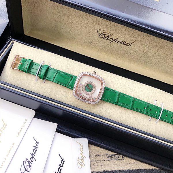 Đồng hồ nữ mặt vuông dây da