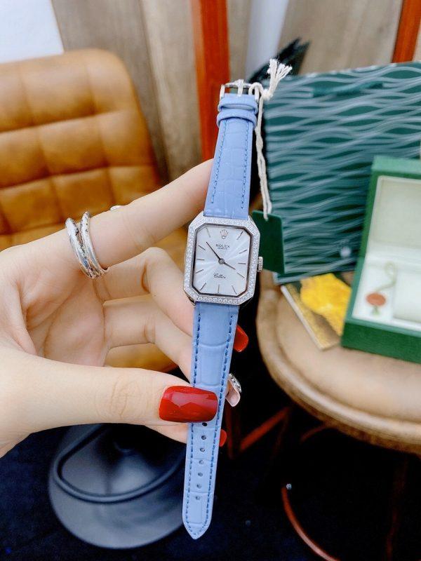 Đồng hồ Rolex nữ màu xanh