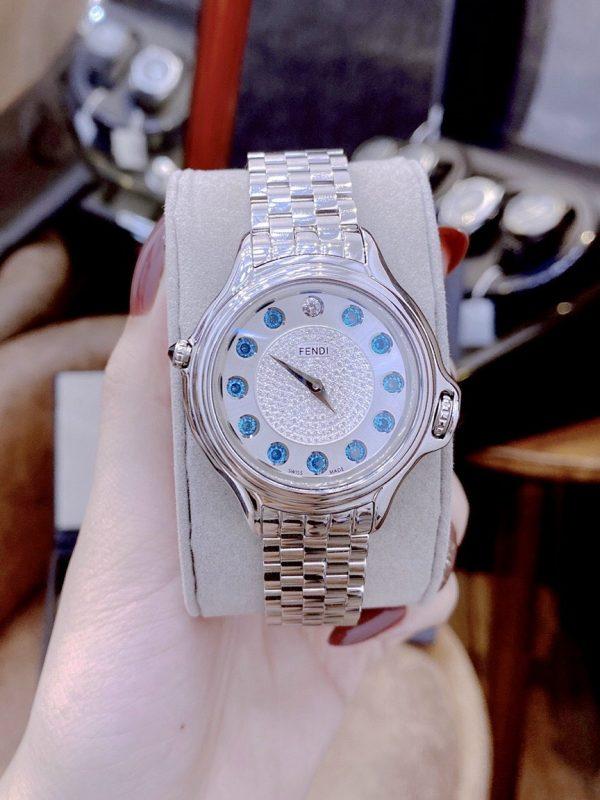 Đồng hồ Fendi nữ mặt tròn