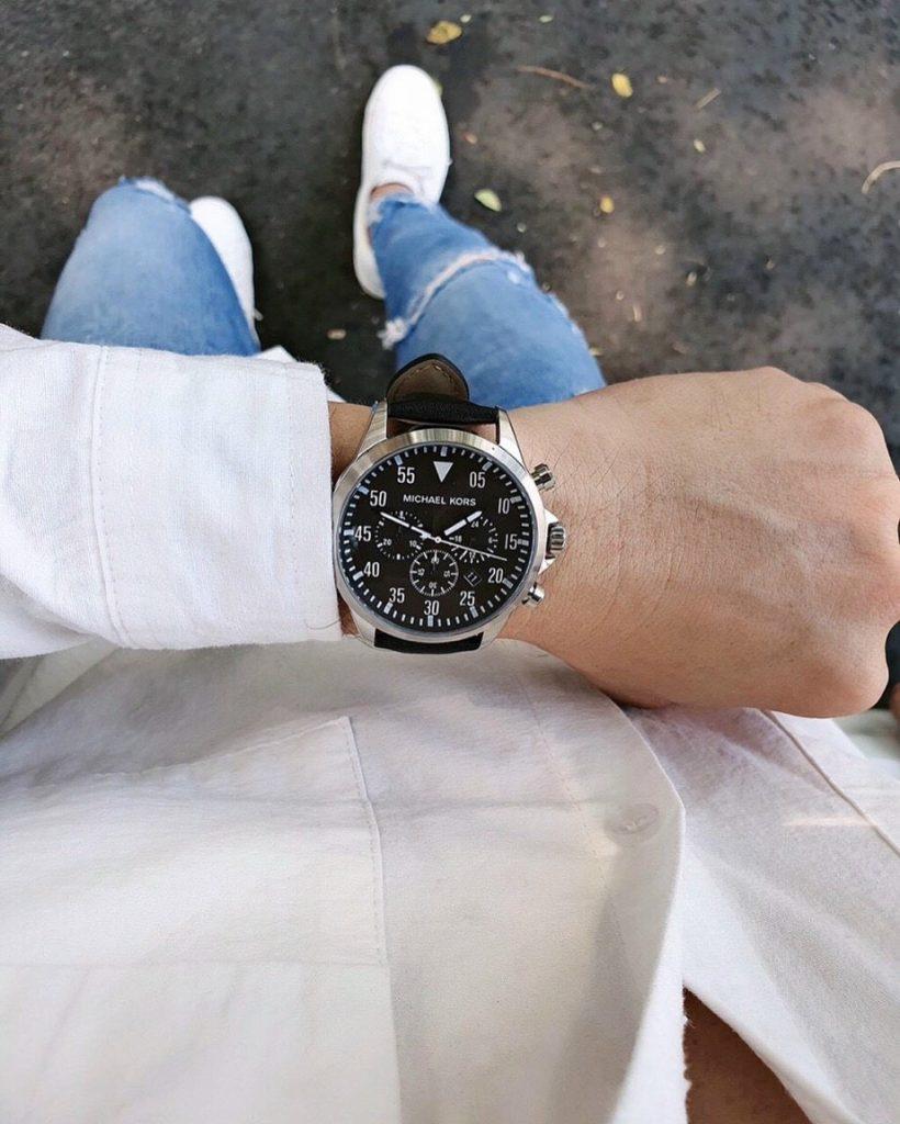 Đồng hồ Michael Kors nam dây da