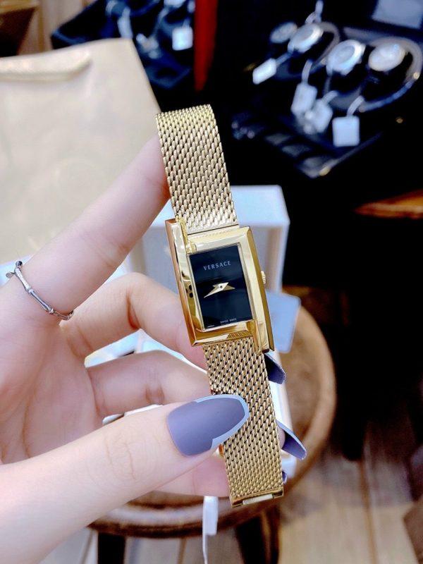 Đồng hồ Versace nữ mặt chữ nhật