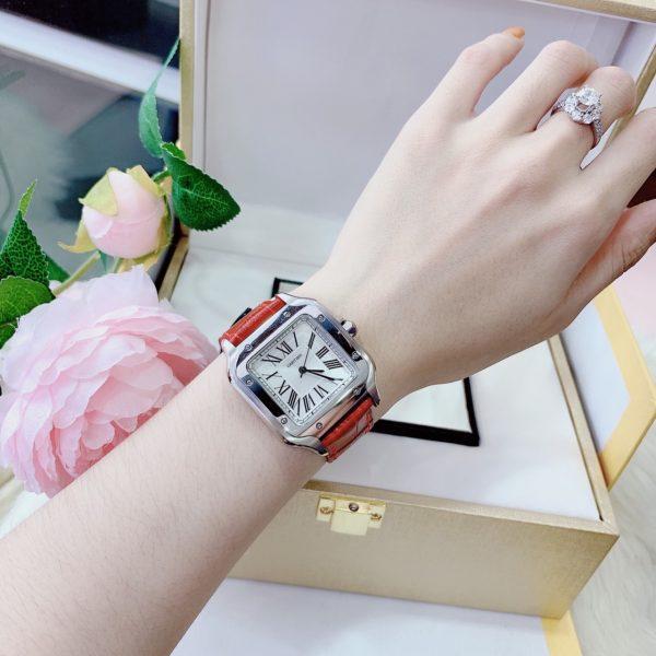 Đồng hồ Cartier dây da nữ