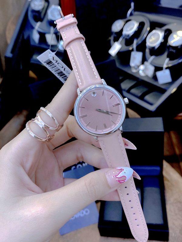 Đồng hồ Movado nữ dây da