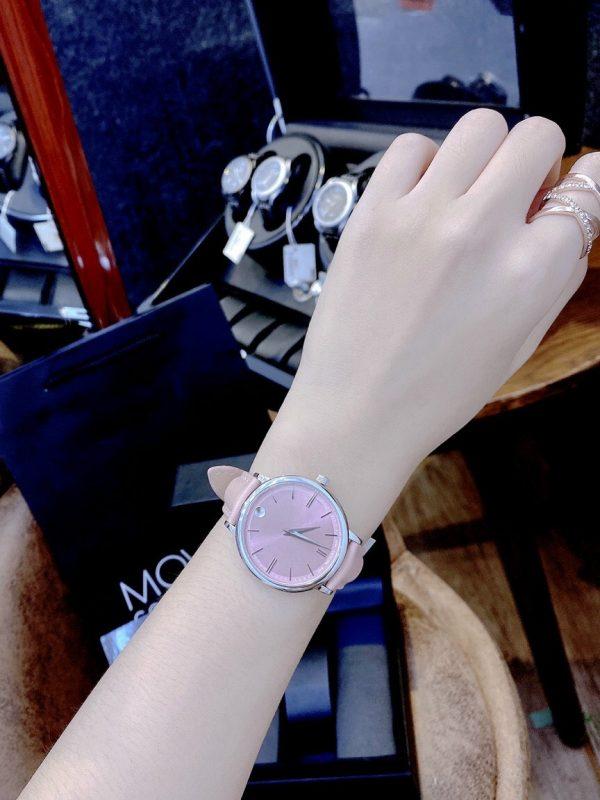 Đồng hồ Movado nữ mặt tròn