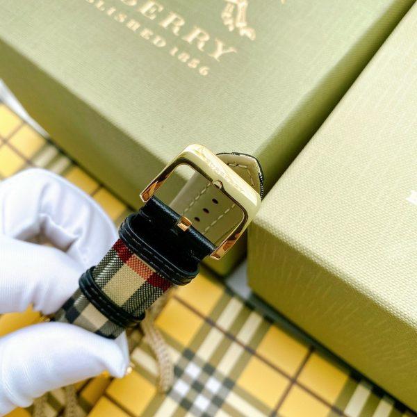 Đồng hồ cặp dây da Burberry