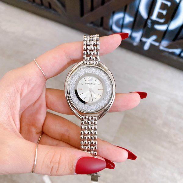 Đồng hồ swarovski mặt đá xoay