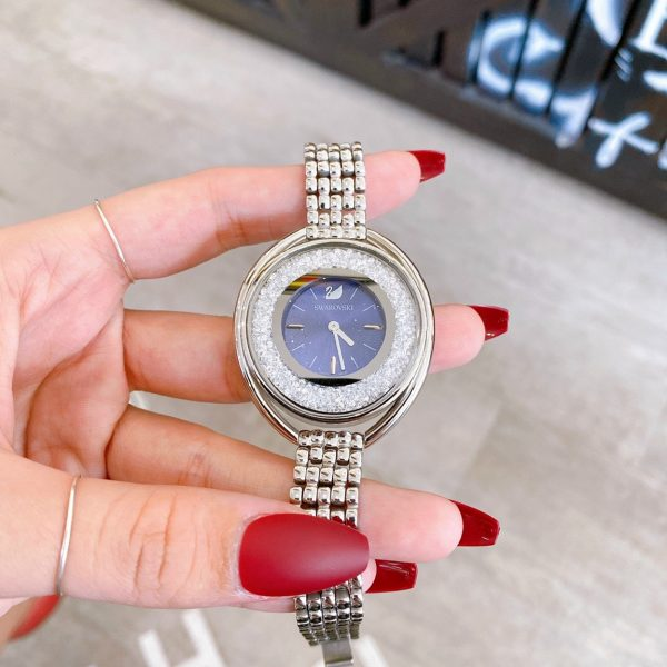 Đồng hồ swarovski nữ dây kim loại