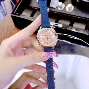 Đồng hồ Coach nữ dây cao su màu xanh dương