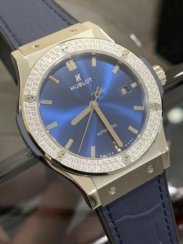 Đồng hồ Hublot nam dây cao su màu xanh dương