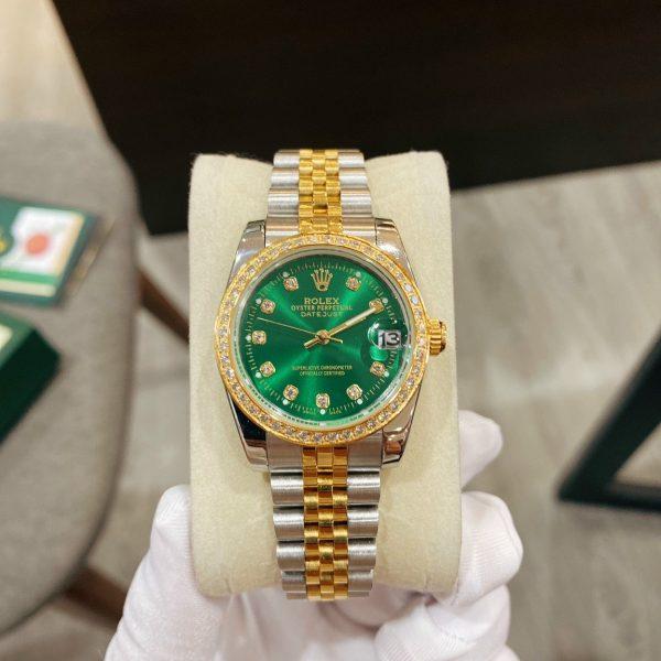 Đồng hồ Rolex nữ mặt xanh