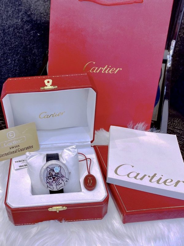 Đồng hồ Cartier nam đính đá
