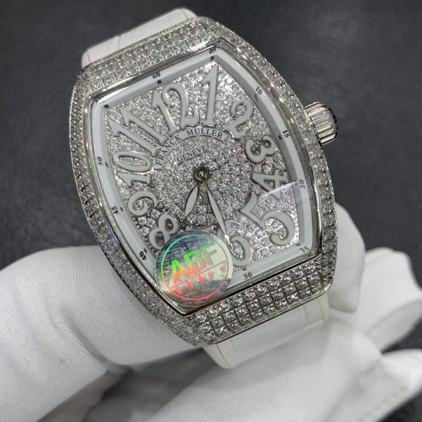 Đồng hồ Franck Muller đính full kim cương nhân tạo