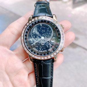 Đồng hồ Patek Philippe nam dây da màu đen