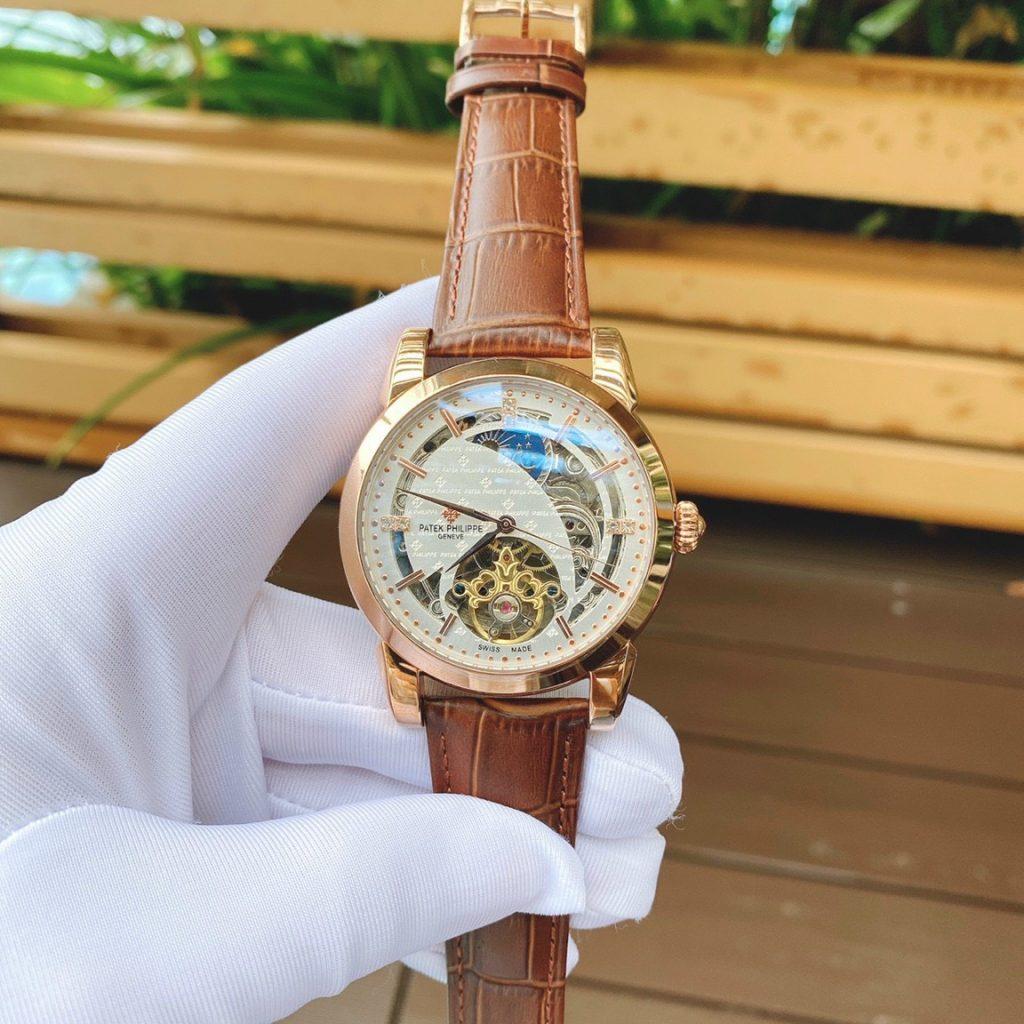 Đồng hồ nam dây da Patek Philippe
